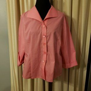 FOXCROFT 16P Pink Wrinkle Free Shirt